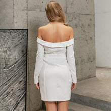 Load image into Gallery viewer, 'Glamour In New York' Off Shoulder Mini/Midi
