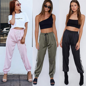 'Stripe Me Pink' Sheen Fashion Trackpants-LovelyThreads.co