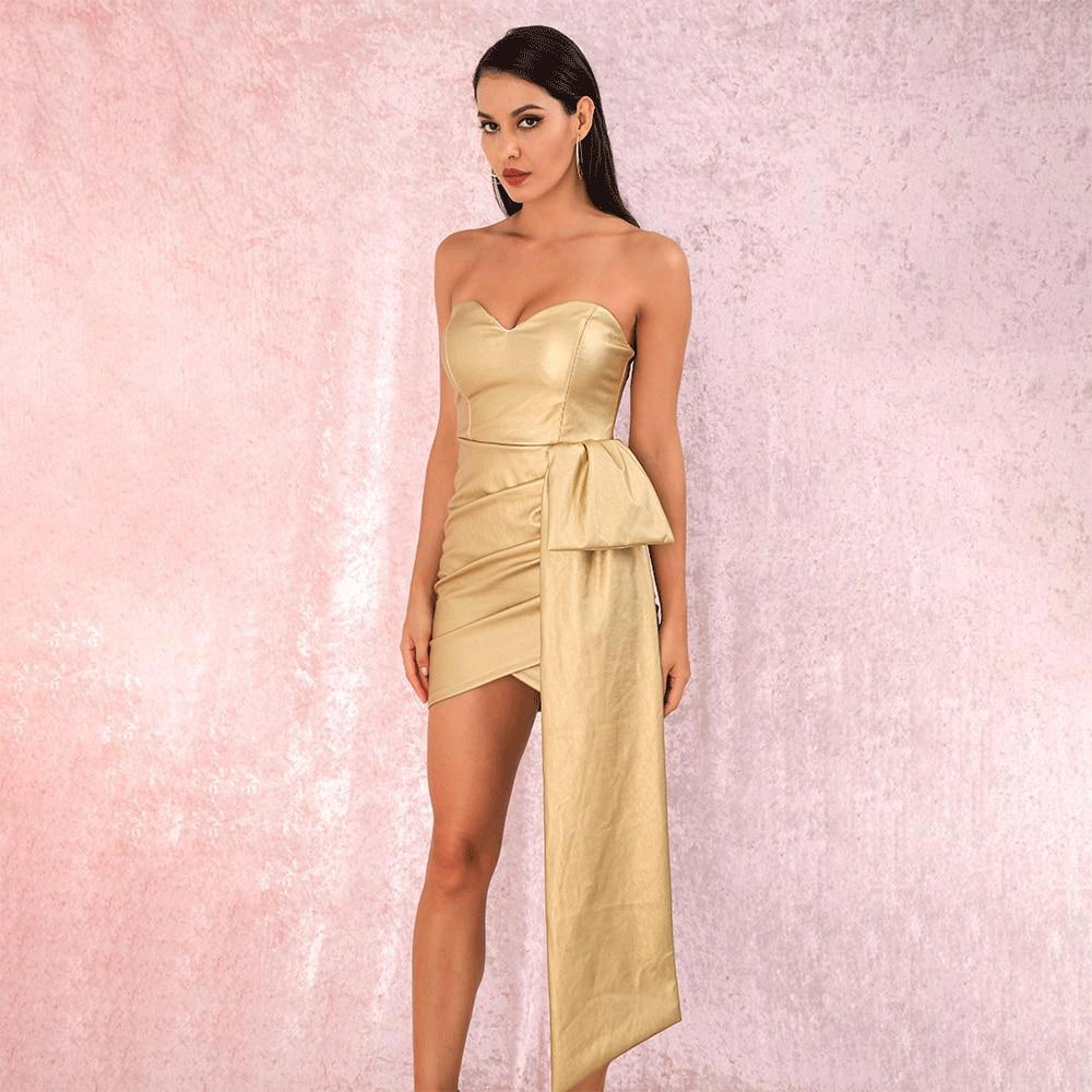 'Good As Gold' Mini Party Dress (NEW)-LovelyThreads.co
