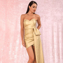 Load image into Gallery viewer, 'Good As Gold' Mini Party Dress (NEW)-LovelyThreads.co