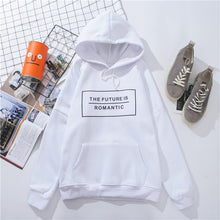 Load image into Gallery viewer, 'The Future Is Romantic' Dazzle With Color Hoodie-LovelyThreads.co