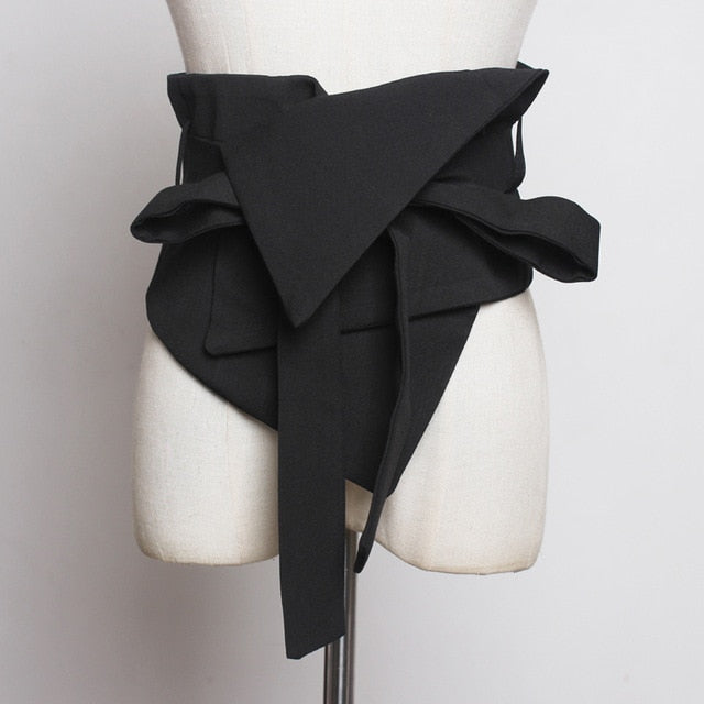 'Flower Bow' Modern Bandage Waist Belt-LovelyThreads.co
