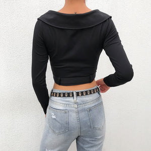 'Bad Attitude' Zipper + Belt Cropped Jacket
