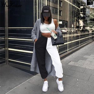 'Black Or White' Dual Color Sweat Pants-LovelyThreads.co
