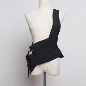 'Love Is War' Asymmetrical Outer Bandage Vest-LovelyThreads.co