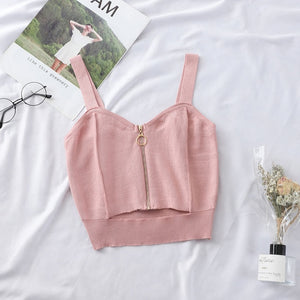 'Feels Like Spring' Zipper Crop Top (5 Colors)-LovelyThreads.co