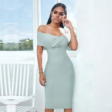 Load image into Gallery viewer, 'Virgo Perfection' Summer Bandage Midi Dress