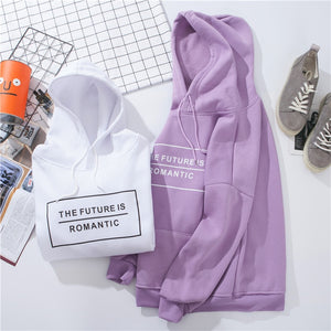 'The Future Is Romantic' Dazzle With Color Hoodie-LovelyThreads.co