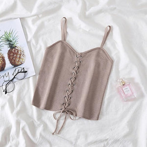 'State Of Mind' Summer Drawstring Croptop-LovelyThreads.co