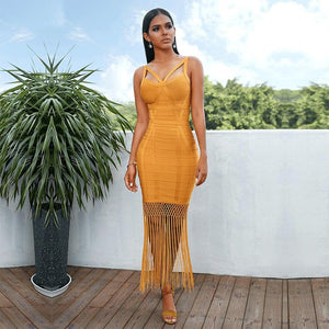 'Say It Ain't So' Tassel + Bandage Midi (4 Colors)-LovelyThreads.co