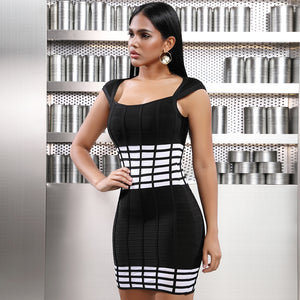 'Ace Of Spades' Modern Checkers Mini Dress
