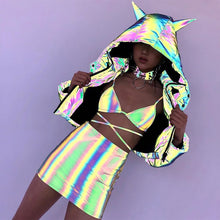 Load image into Gallery viewer, 'Antagonize' Reflective Super Hologram Hoodie