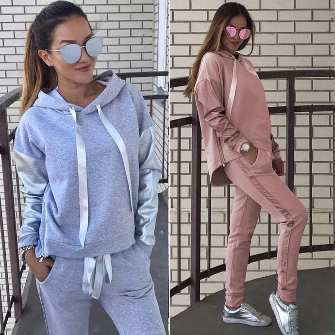 'Autumn Leaves' Hoodie + Pants Set (4 Colors)