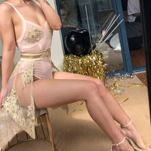 Load image into Gallery viewer, 'Gold BIllionaire' Luxury Embroidered Lace Dress-LovelyThreads.co