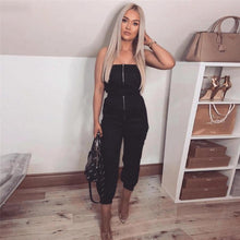 Load image into Gallery viewer, 'Love Me Layla' Zipper + Pockets Jumpsuit-LovelyThreads.co