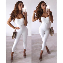 Load image into Gallery viewer, 'Refuse To Lose' Sexy White Bandage Jumpsuit-LovelyThreads.co
