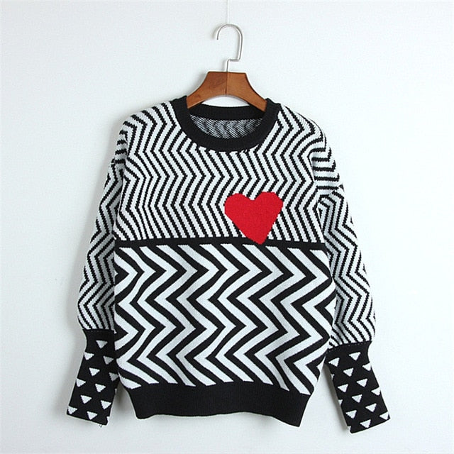 'It's Complicated' Psychedelic Love Sweater