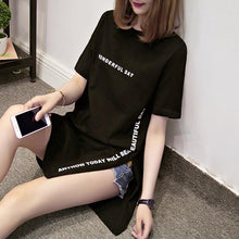 Load image into Gallery viewer, 'WONDERFUL DAY' Modern Long Cut T-Shirt-LovelyThreads.co