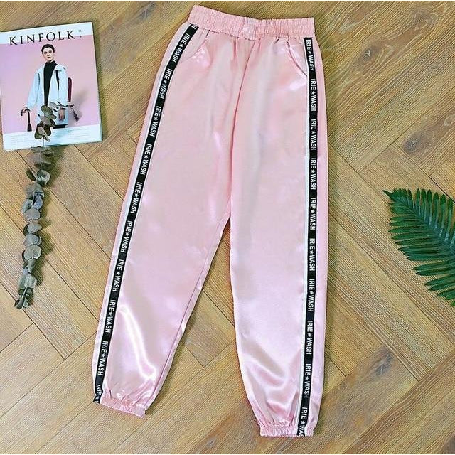 'Irie Wash' Satin Sports Joggers (4 Colors)-LovelyThreads.co