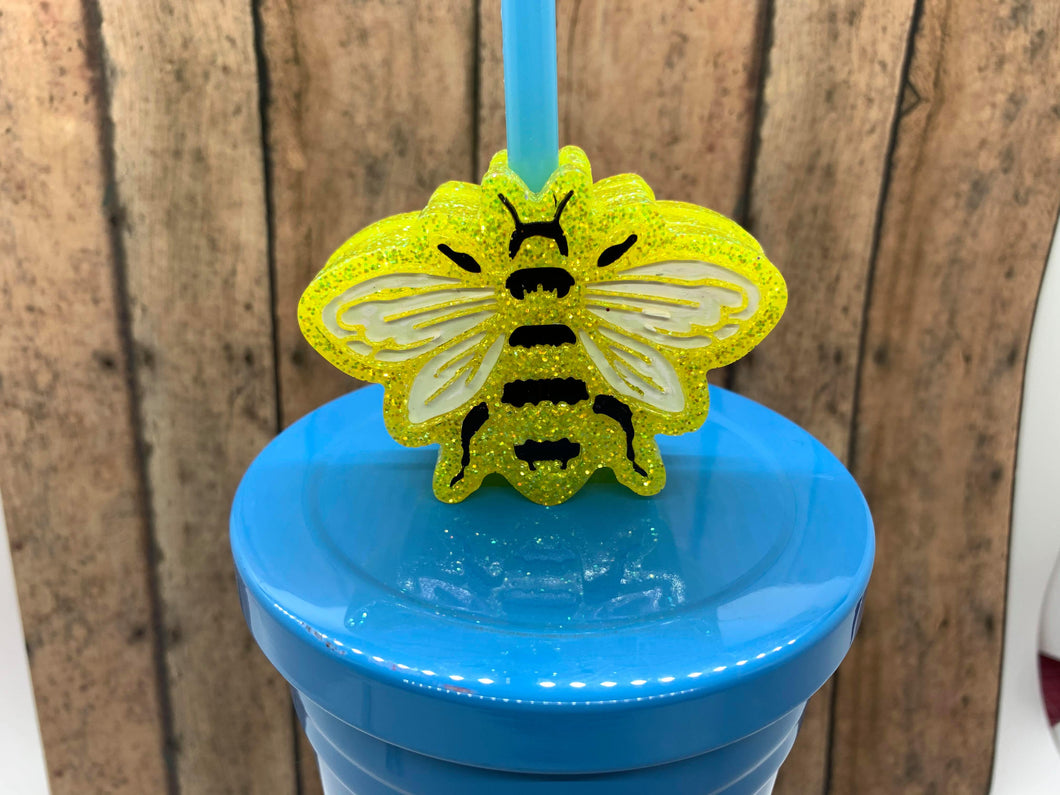 Bee Straw Topper Mold (flat)