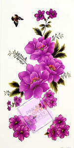 Purple Floral Tattoo - 7 x 3""