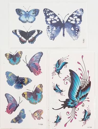 Butterfly Bundle Set of 3 Tattoos
