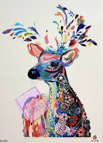 Watercolor Deer / Doe Tattoo - 8.5