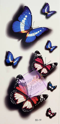 Red and Blue Butterfly Tattoo - 7.3