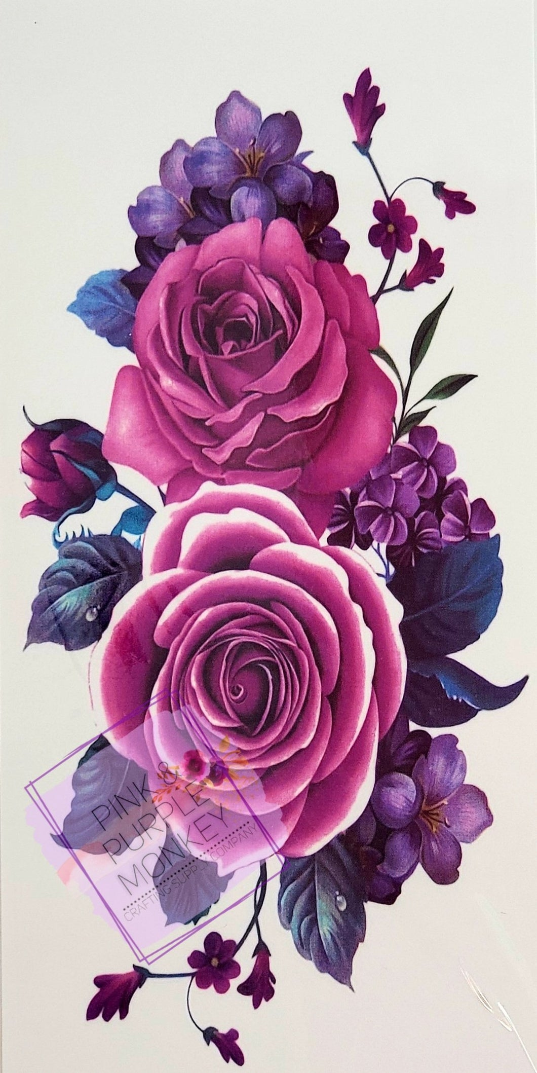 Purple Roses Tattoo - 7 x 3