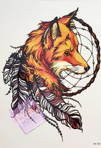 Fox with Dreamcatcher Tattoo - 8.5