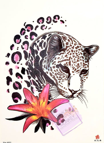 Leopard and Lily Tattoo - 8 x 5