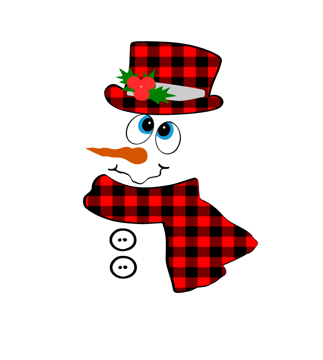 Snowman with Plaid Hat Waterslide