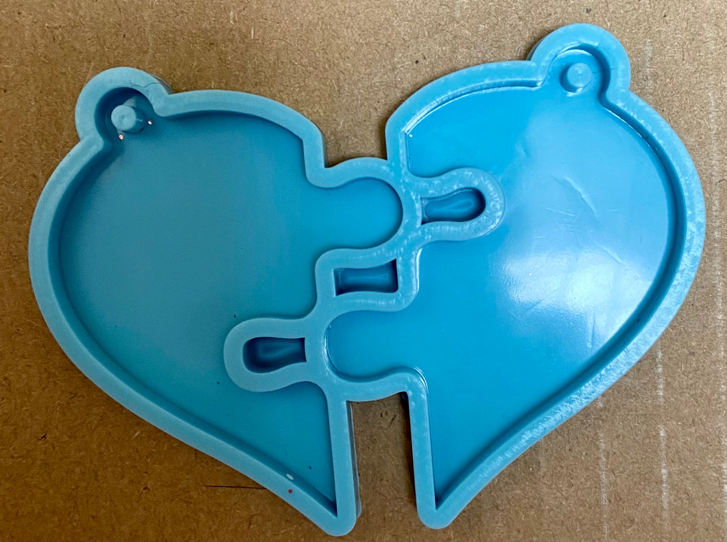 2 Pieces of a Heart- Best Friend Keychain Mold