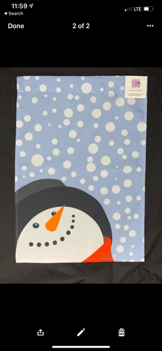 Customized yard flag (snowman)