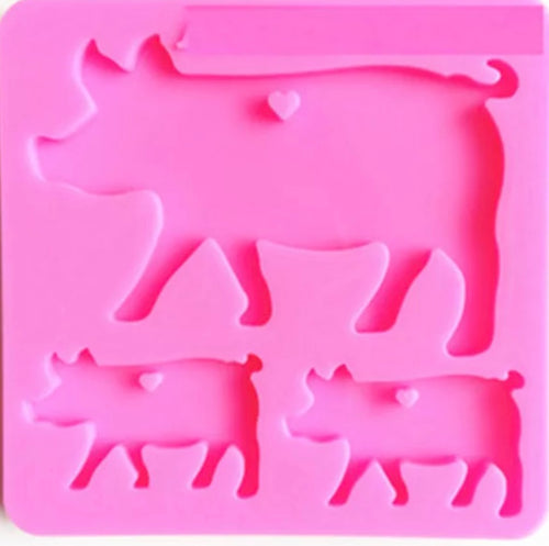 Pig Mama and Baby Family Mold