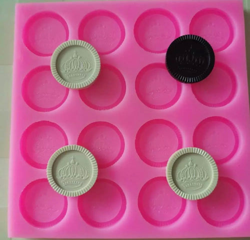 Board & Checkers Mold Set (2 pieces)