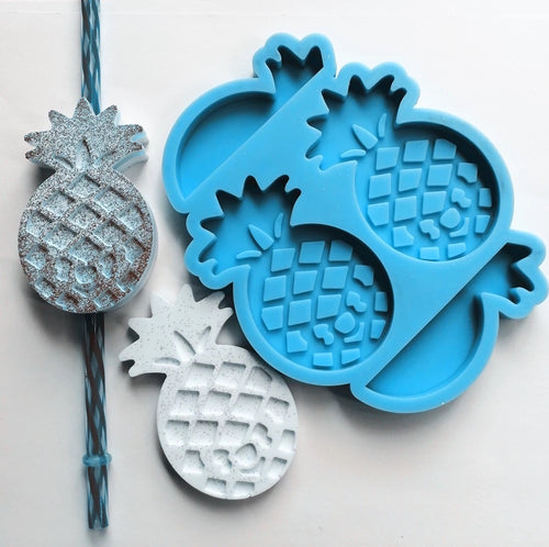 Pineapple Flat Straw Topper Mold