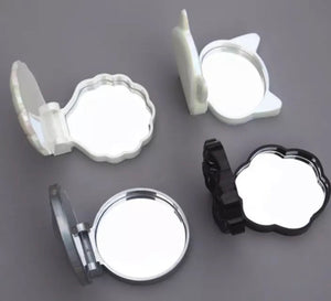 Flower Make Up Folding Mirror Compact Mold - With 1 Mirror