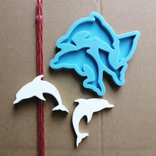 Dolphin Straw Topper Mold