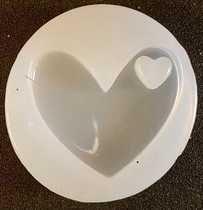Clear Heart with Heart Keychain Mold