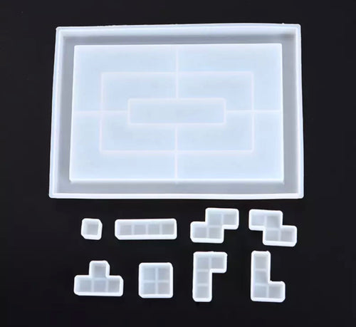 Tetris game set mold (board & pieces)