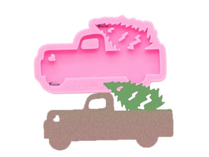 Truck & Christmas Tree Keychain Mold