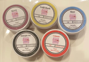 Christmas Set of 5 Mica Powders- 50g total