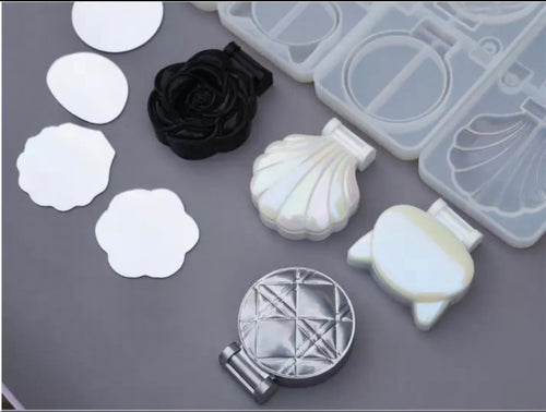 Shell Shaped Mirror for Folding Makeup Molds - Mirror Only