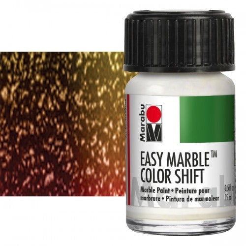 517 Glitter Green-Red-Gold Marabu Easy Marble Paint