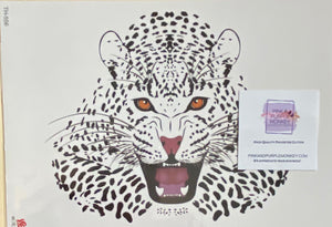 Lying Down Roaring Jaguar Tattoo - 8 x 5""