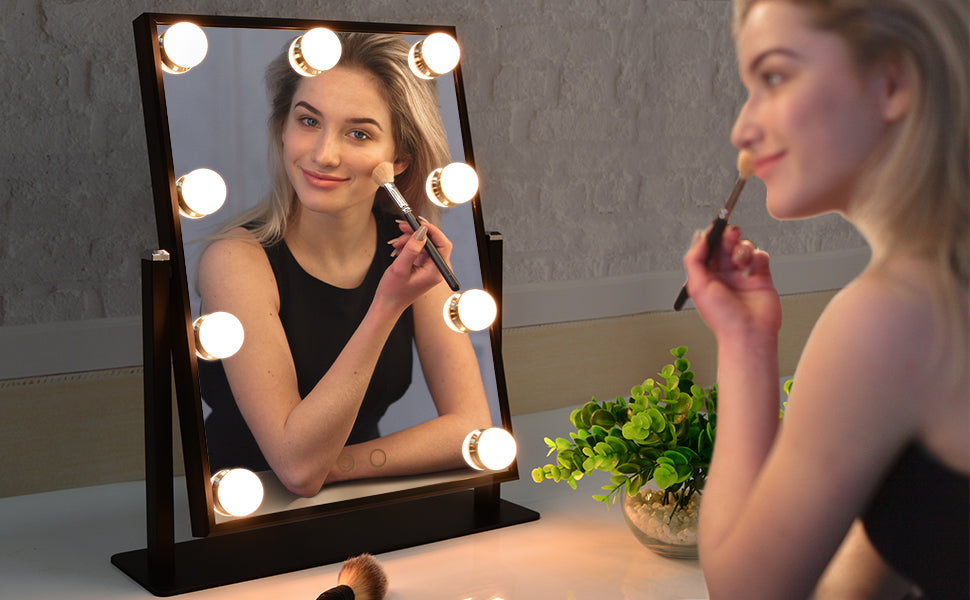 This affordable lighted mirror from Beautme is perfect for applying makeup