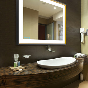 Finding balance in a lighted makeup mirror - Hotel design