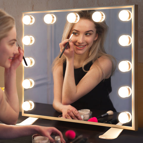 Hollywood Vanity Mirror with Lights,Dressing Tabletop Vanity Mirror with 13pcs Led Lights Large Beauty Mirror