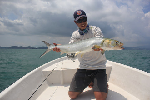 fly fishing for lady fish langkawi straits fly shop
